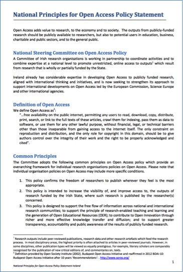 National Open Access Principles original